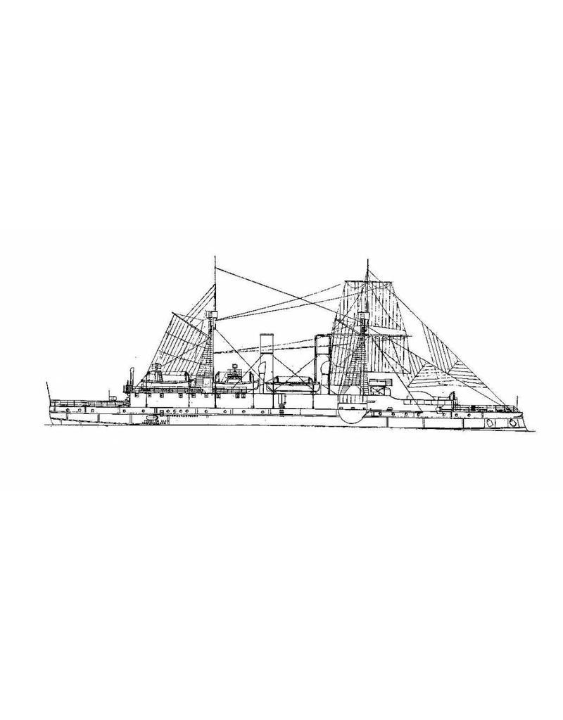 """NVM 16.11.027 pantserdek korvet HrMs """"Sumatra"""" (1891)"""