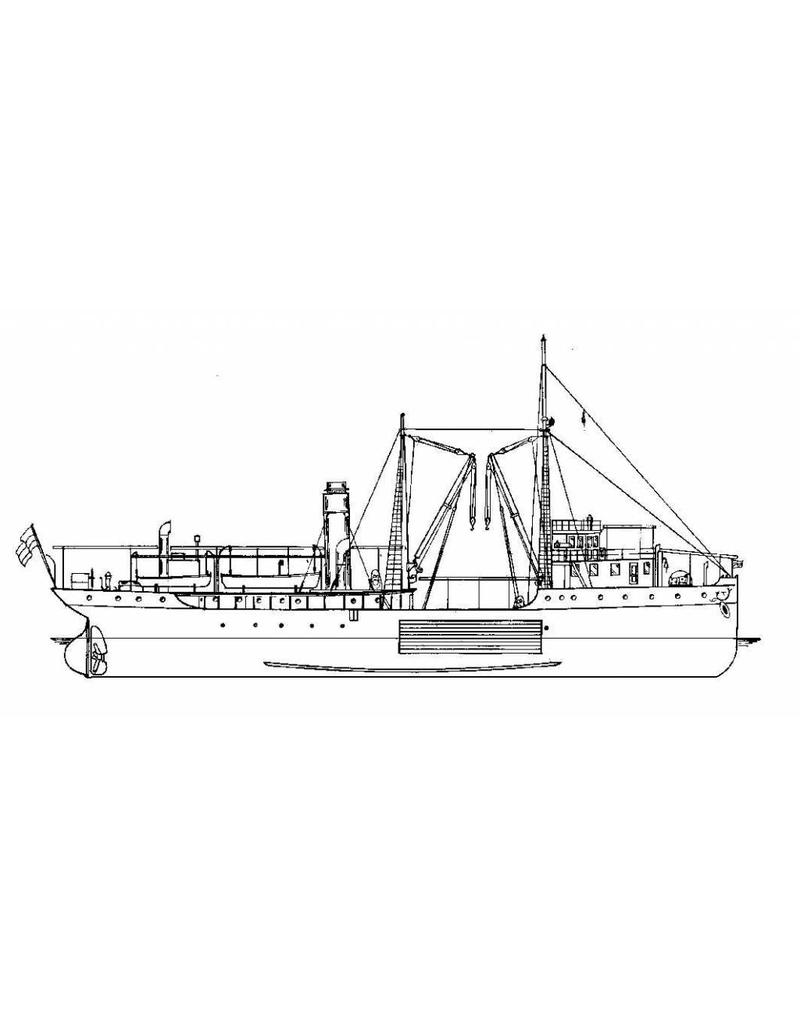 """NVM 16.18.003 vaartuig Dienst Bebakening / Kustverlichting ss """"Hfd.inspec. Zeeman"""" (1909)"""