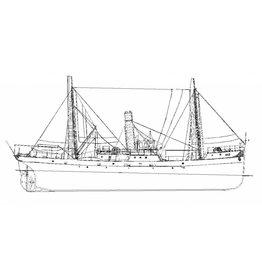 """NVM 16.18.005 stoomloodsvaartuig No. 2 """"Jan Spanjaard"""" (1901), na verbouwing (1925)"""