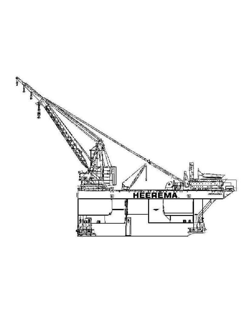 """NVM 16.19.014 zelfvarend kraaneiland """"Hermod"""" (1986) - Heerema"""