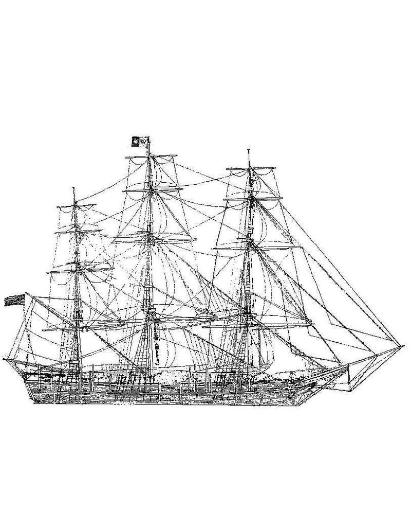 """NVM 10.00.012 walvisvaarder """"Charles W. Morgan"""" (1841) (volschip)"""