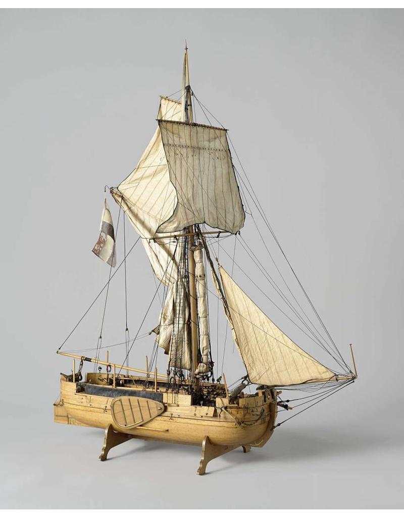 NVM 10.01.007 Gaffel kanonneerboot, groot model (1821)