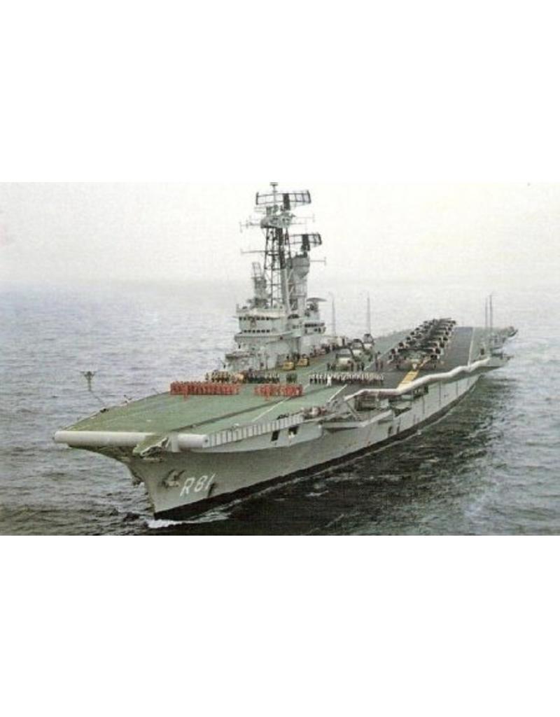 "NVM 10.11.048/A HrMs vliegkampschip ""Karel Doorman"" (1948) ex ""HMS Venerable"" (1942); na verb (55/58)"