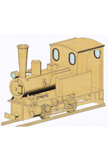 """NVM 20.00.066 B-locomotief No. 1, Marijnke; Stoomtrein Katwijk - Leiden - 3,5""""spoor (89 mm)"""