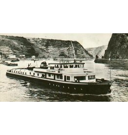 """NVM 10.14.009 Rijn-motorsleepboot ms """"Damco-21 Alexander von Engelberg"""" (1959) - Damco Scheepv. Mij."""