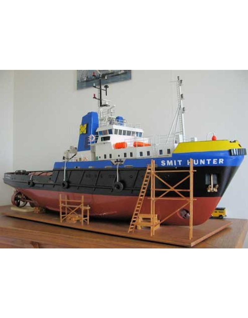 "NVM 10.14.041 zeesleper ms ""Happy Hunter"" (1976) - Mammoet Shipping; na 1982 ""Smit Hunter"""