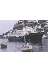 "NVM 10.20.100 vracht-pass-schip ms ""Ragnvald Jarl"" (1956) - Nordenfjeldske DSS (Hurtigruten)"