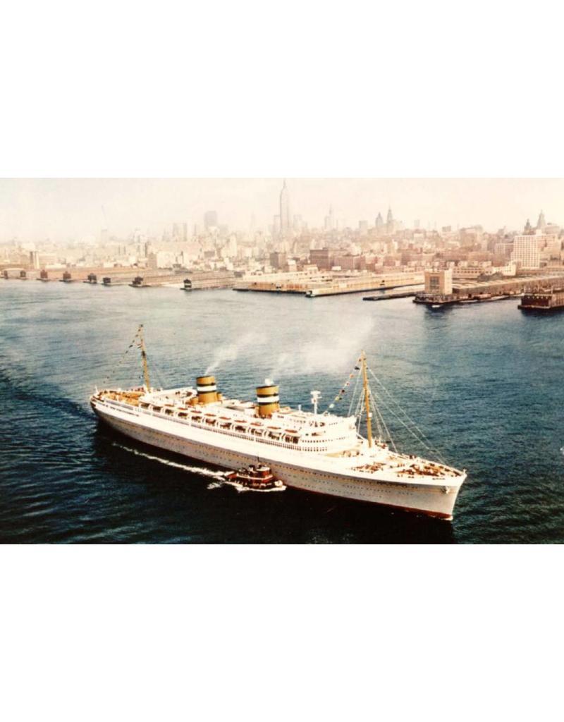 """NVM 16.10.006 passagiersschip dss """"Nieuw Amsterdam"""" (1938) - HAL"""