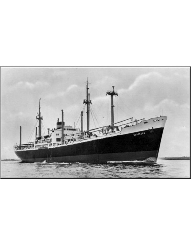 """NVM 16.10.029 vrachtschip ms """"Oostkerk"""", """"Ommenkerk"""", """"Oldekerk"""", """"Ouwerkerk"""" (1954) - VNS/Nedlloyd"""