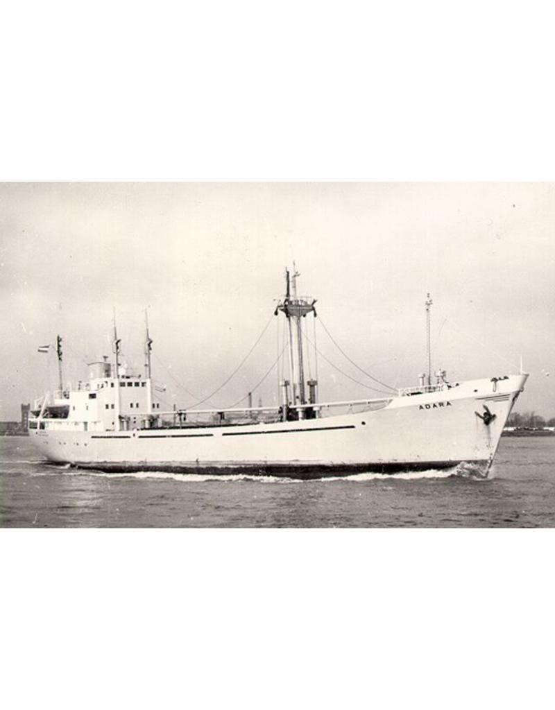 """NVM 16.10.081 vrachtschip ms """"Adara"""" (1961) - van Nievelt Goudriaan"""