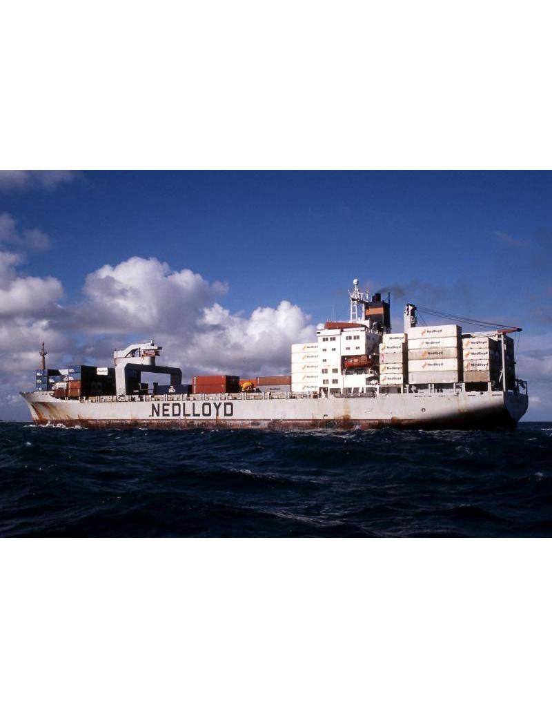 """NVM 16.10.092 containerschip ms """"Nedlloyd van Neck"""" (1983), """"van Noort"""", """"van Diemen"""" (1984) - Nedlloyd"""