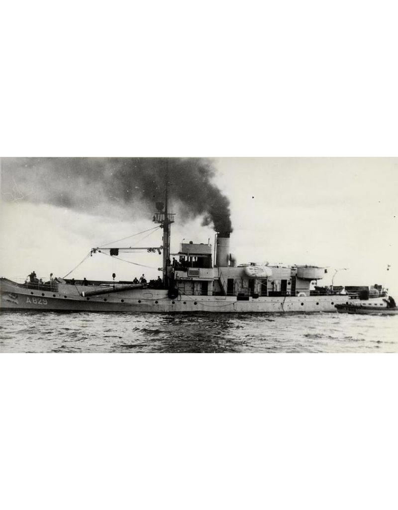 """NVM 16.11.023 torpedowerkschip HrMs """"Mercuur"""" A829 (1935)"""