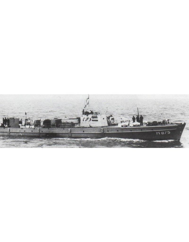 """NVM 16.11.037 HrMs mijnenveger """"Stortemelk"""" M875 (1947) - mijnenvegers 21 t/m 30 (1948)"""