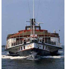 """NVM 16.15.059 raderstoomschip """"Kapitein Kok"""" (1977); ex Reederij op de Lek 6 (1911)"""