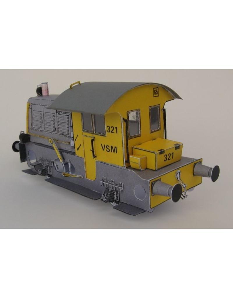 NVM 20.02.015a Locomotor VSM 321(Sik), uitgevoerd in karton pf blij/mess