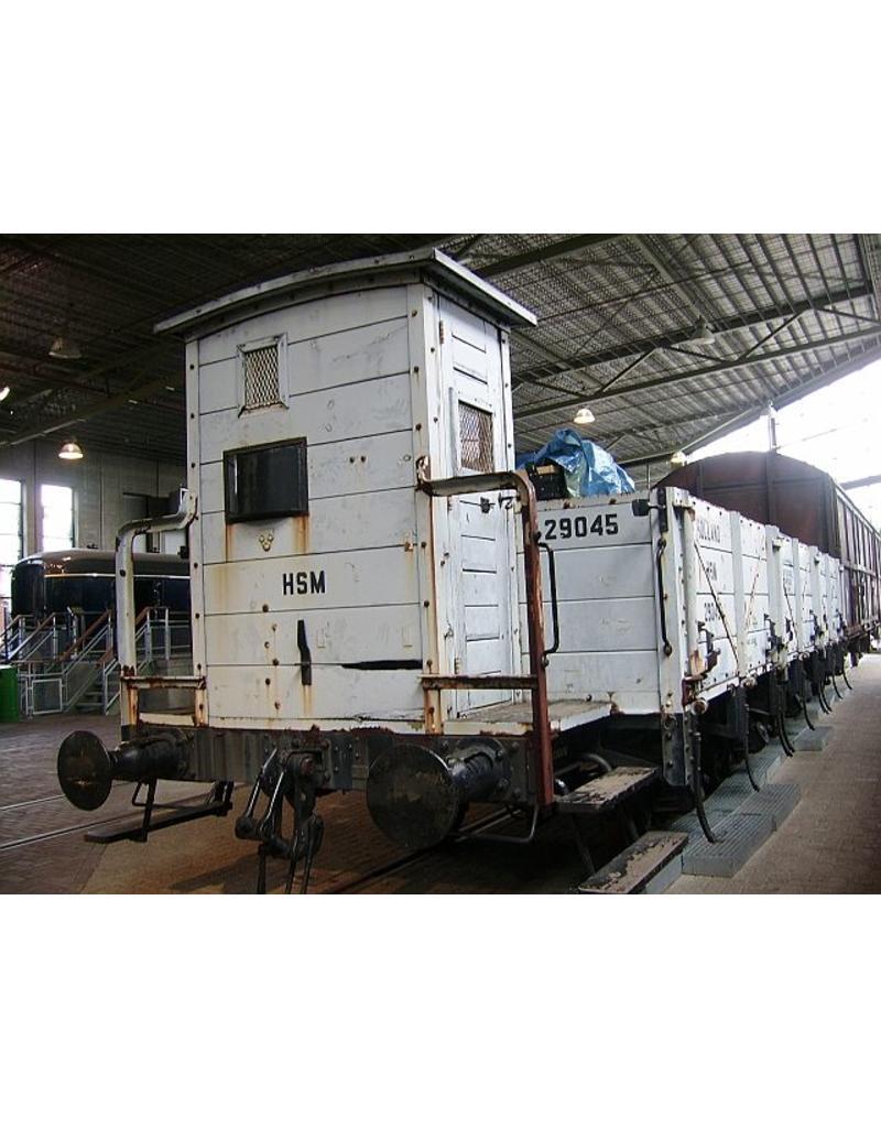 NVM 20.06.033 20 tons open goederenwagen voor vervoer van dwarsliggers HSM Ghw 29041 t/m 50; NS 17541-50