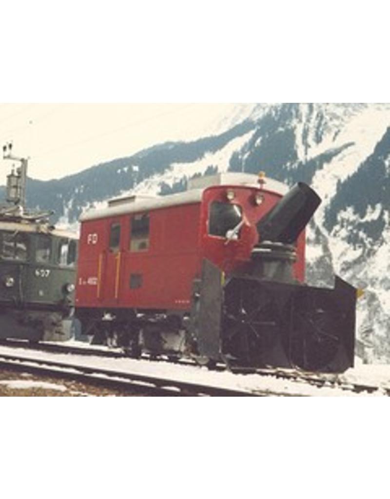NVM 20.39.001 sneeuwruimer Xrote 4931-33 Furka-Oberalpbahn voor spoor H0