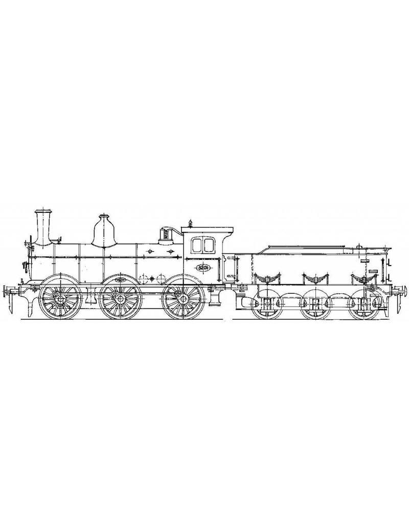 NVM 29.00.610 stoomlocomotief NS 3201 - 3247