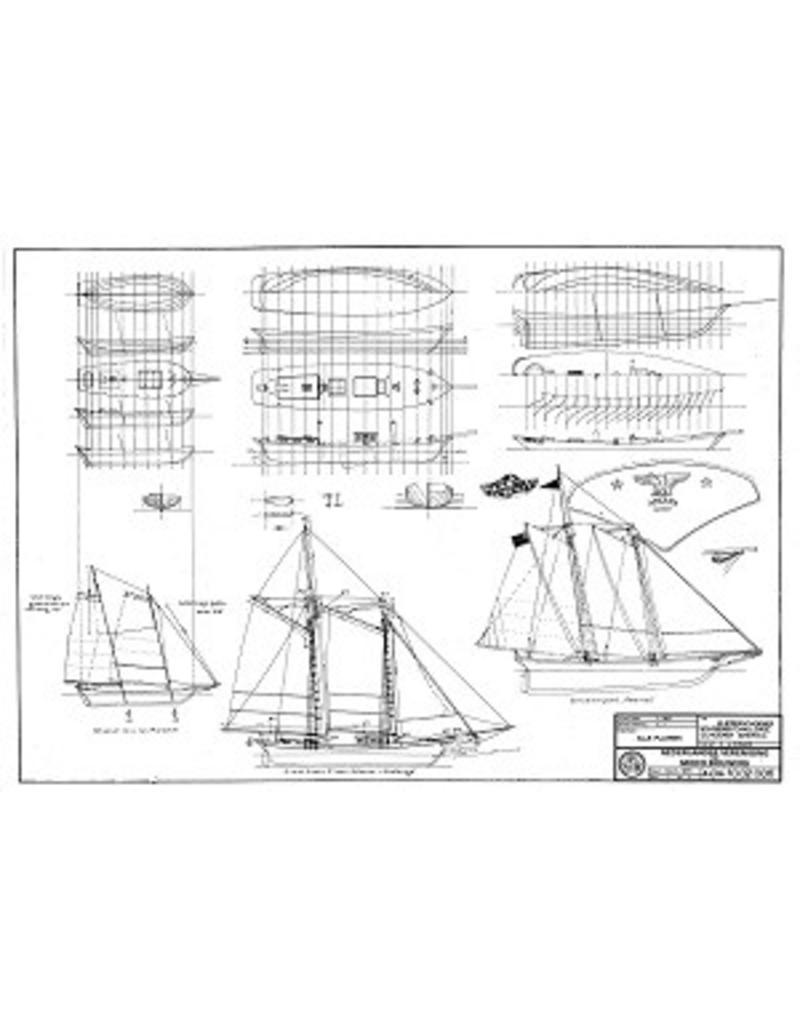 NVM 10.02.006 3 Amerikaans kustschoeners; midden 19e eeuw