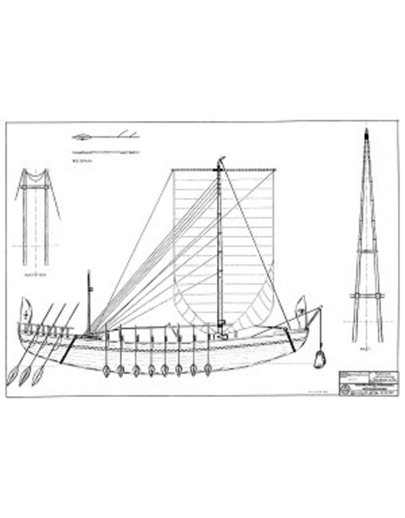 NVM 10.02.007 Egyptisch vrachtschip (ca 2500 voor Chr.)