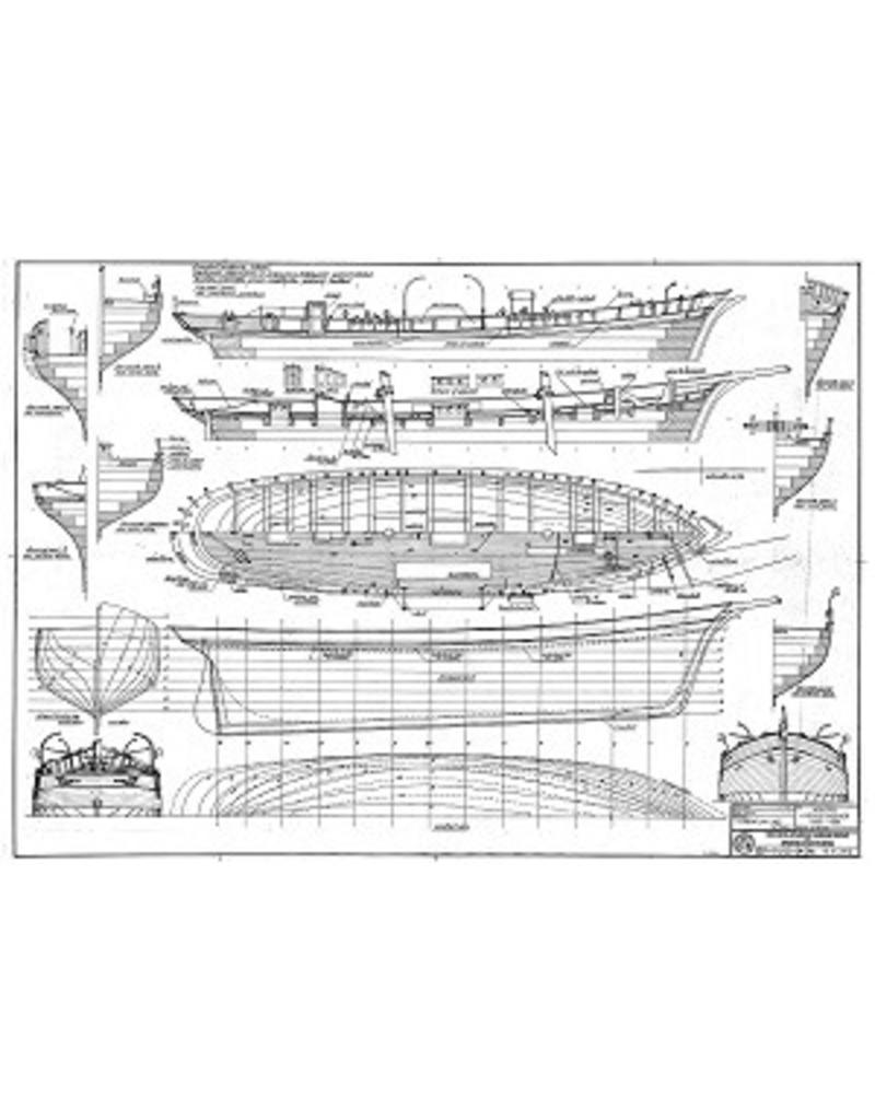 "NVM 10.04.002 houten loodsschoener ""Flissingen 8"" (ca 1890-1900)"