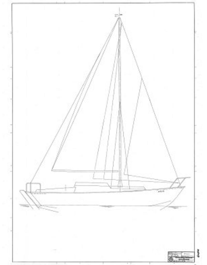 """NVM 10.08.017 zeiljacht """"BollestÌÎå¢l"""" (type Seahawk)"""