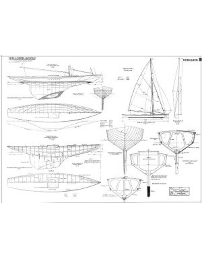 NVM 10.08.027 model knikspantzeiljacht Seestern