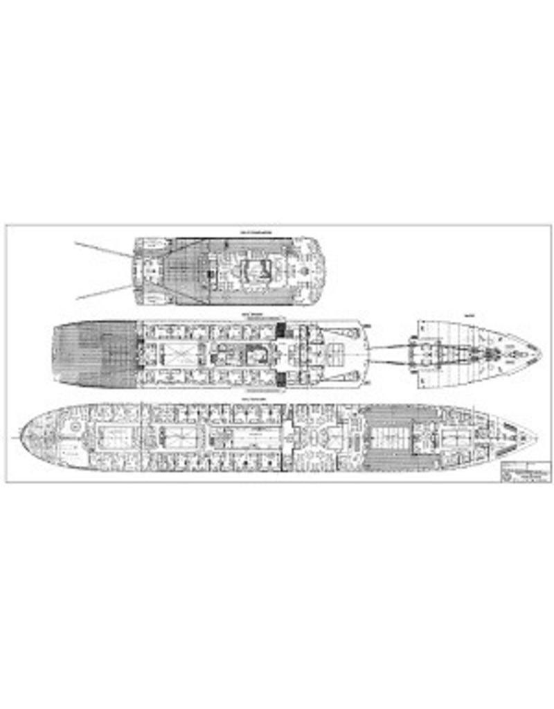 """NVM 10.10.011/A pass.schip ms """"Oranje Nassau"""", """"Prins der Nederlanden"""" (1957) KNSM"""