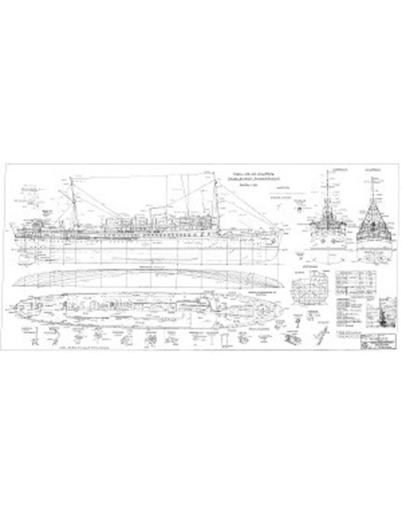 """NVM 10.10.129 passagiersschip ss """"Benjamin Franklin"""" (1933) - Fred Olsen Line"""