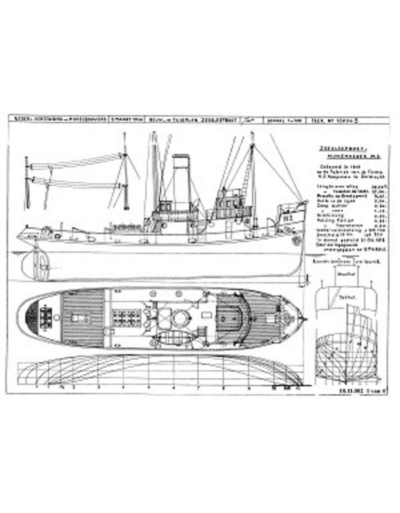 """NVM 10.11.002 HrMs sleepboot/mijnenveger M 2 (1918) ex """"Marie II"""""""