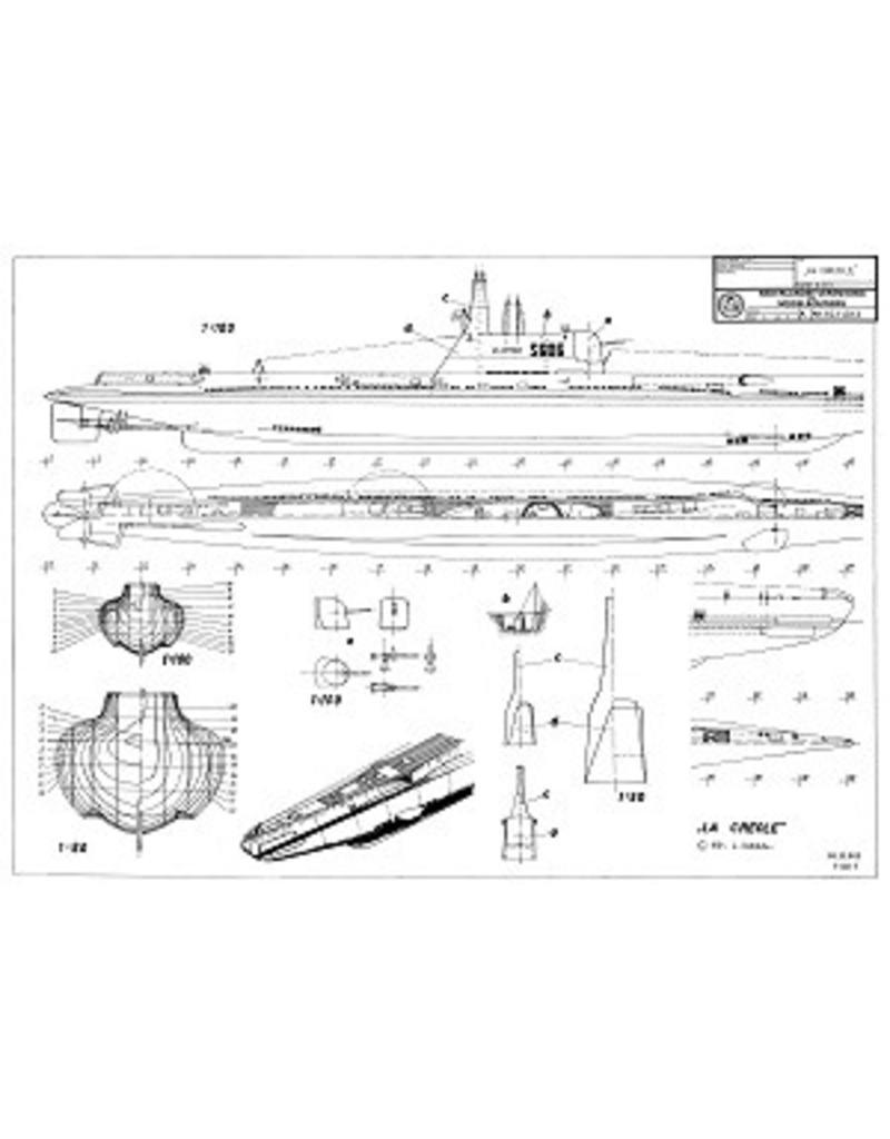 "NVM 10.11.013 Franse onderzeeboot ""La Creole"" S606 (1946) - ""Creole"" klasse (1939/49)"