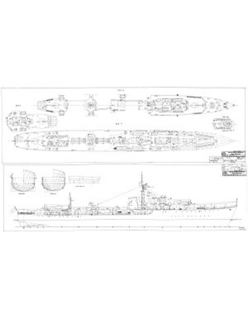 "NVM 10.11.023 HrMs torpedobootjager ""Piet Hein"" D805 (1945) - ex HMS ""Separis"" (1943)"