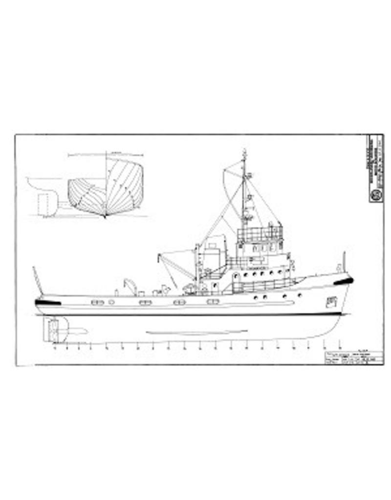 "NVM 10.11.041 HrMs motorsleepboot "" Wamandai"" A870 (1960)"