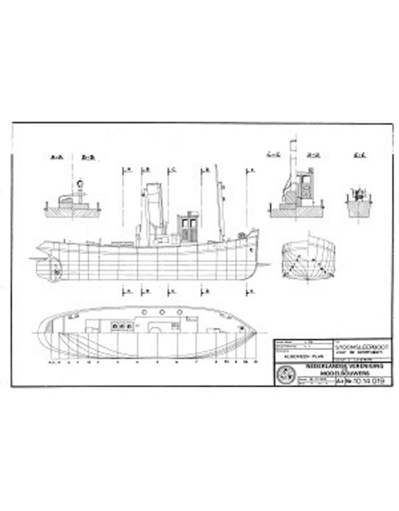 NVM 10.14.019 stoomsleepboot voor de binnenvaart (ca. 1920)