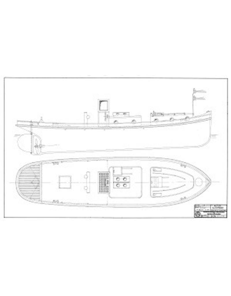 """NVM 10.14.075 haven- en riviersleepboot ms """"Ballot""""- (1934)"""