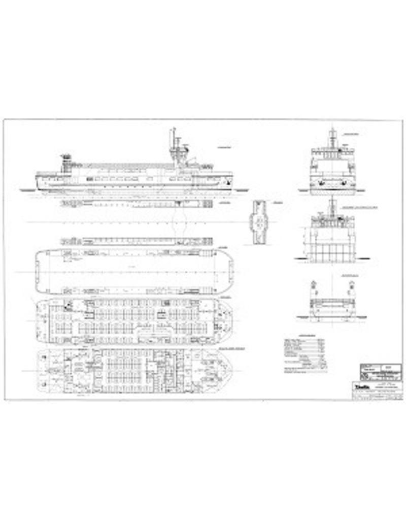 """NVM 10.15.021 veerboot ms """"Sier"""" (1985) -Rederij Wagenborg; na 1995 """"Rottum"""""""