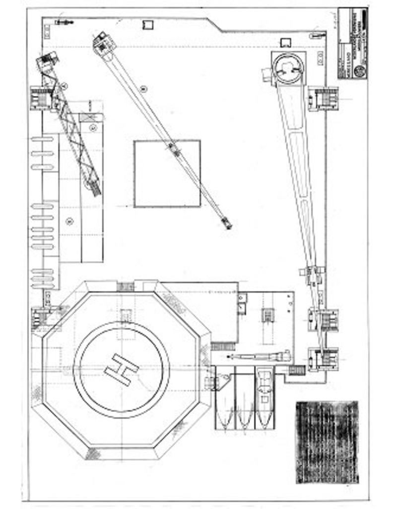 """NVM 10.19.006 zelfvarend halfafzinkbaar werkeiland """"Smit Semi 1"""" (1986)"""