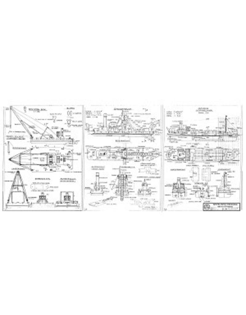 NVM 10.20.001 drijvende bok, baggermolen en hopperzuiger