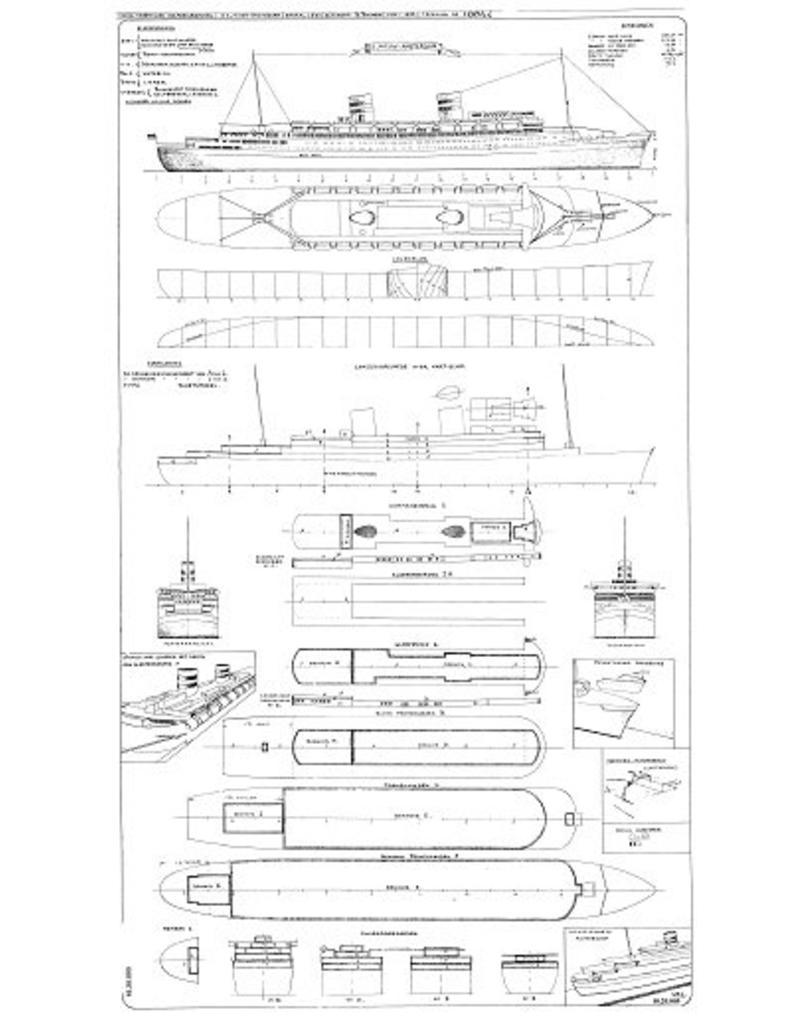 """NVM 10.20.005 passagiersschip ss """"Nieuw Amsterdam"""" (1938) - HAL"""