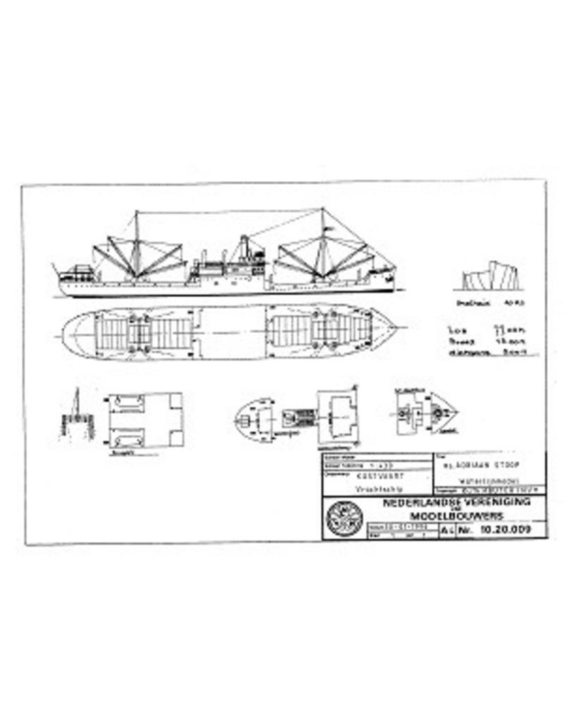 "NVM 10.20.009 vrachtschip ss ""Adriaan Stoop"" (1924)-r. OostBorneo, Rot.; ""Silindoeng""-KPM (1929)"