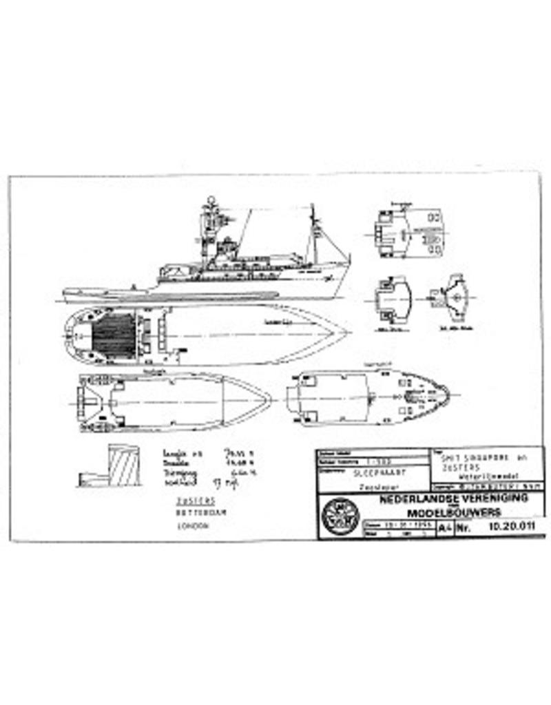 "NVM 10.20.011 zeesleper ms ""Smit Singapore"" (1983) - Smit Internationale"