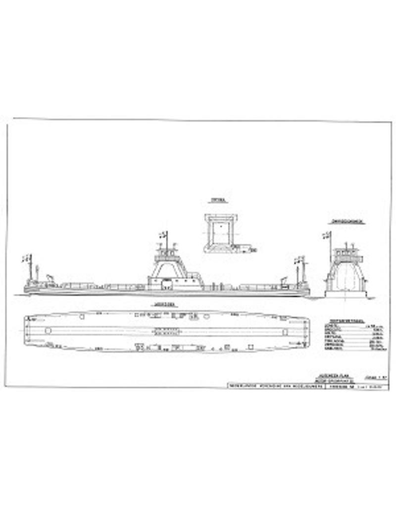 """NVM 10.20.032 IJ-pont, ms """"Spoorpont III"""" - (1963) - Rederij Koppe; """"Spoorpont II"""" (1957)"""