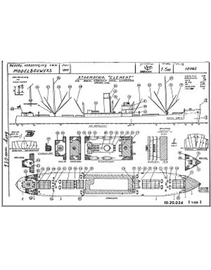 "NVM 10.20.034 vrachtschip ss ""Clement"" (1935) - Booth SS Co"