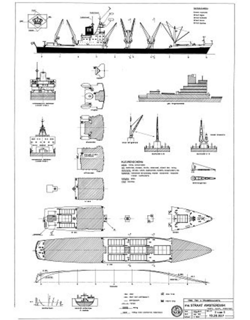 """NVM 10.20.057 vrachtschip ms """"Straat Amsterdam"""" (1968) - KJCPL, """"Straat Algoa"""", """"Straat Auckland"""""""