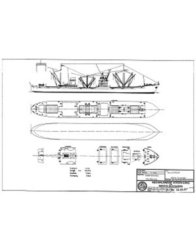 """NVM 10.20.087 vrachtschip ms """" Leersum""""- Stoomvrt.Mij. Oostzee"""