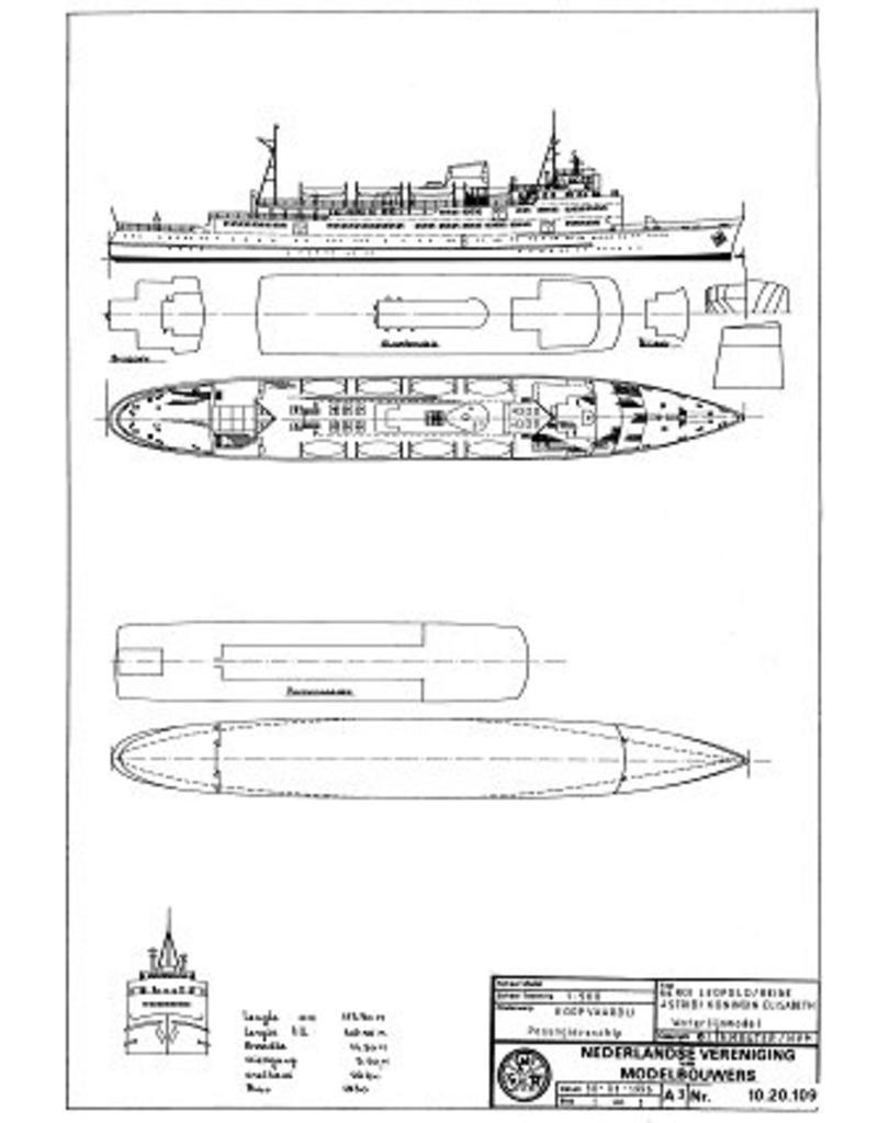 """NVM 10.20.109 veerboot ms """"Roi Leopold"""" (1955) - Regie voor Maritiem Transport"""