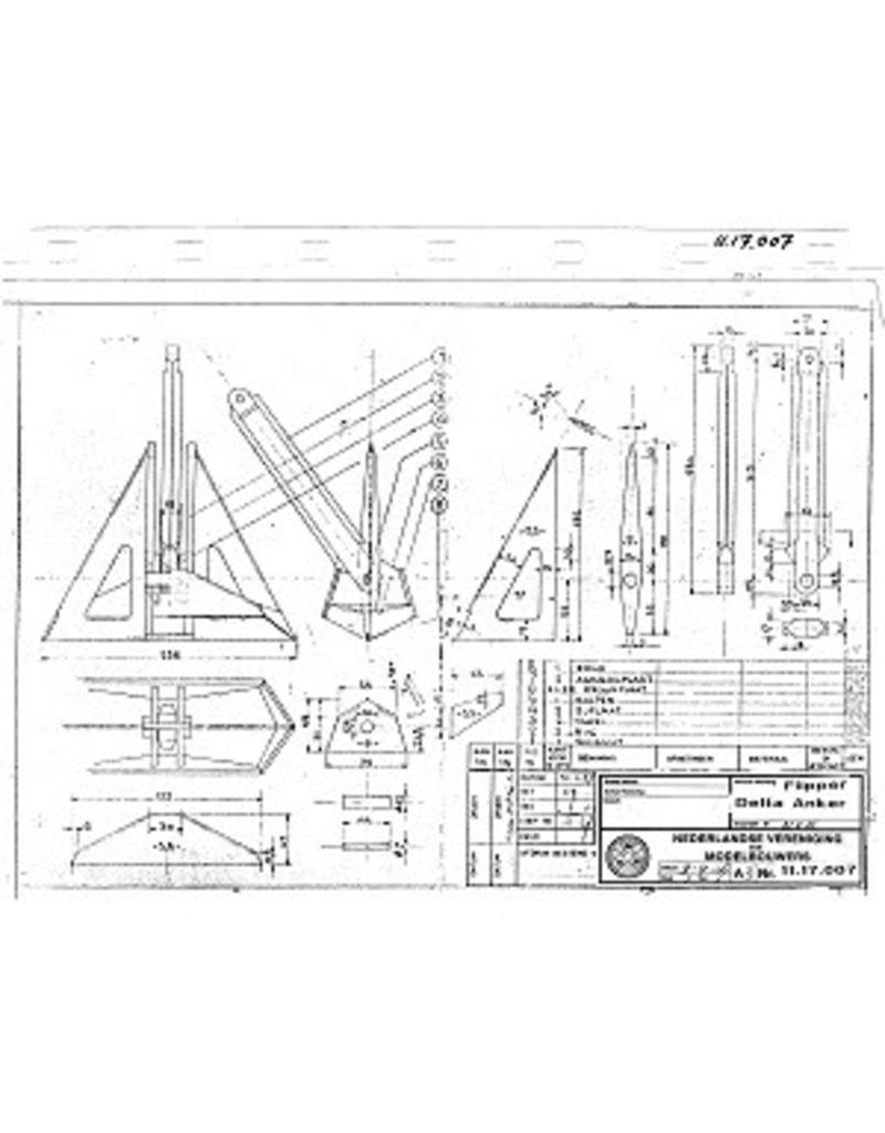 NVM 11.17.007 delta/flipper anker van 2 kg