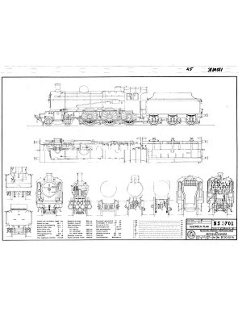"""NVM 20.00.021 NS locomotief 3701 - ex SS 701- (""""Jumbo"""") voor spoor H0"""