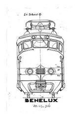 """NVM 20.03.006 Benelux treinstel ABK - (""""Hondekop"""") voor spoor 0"""