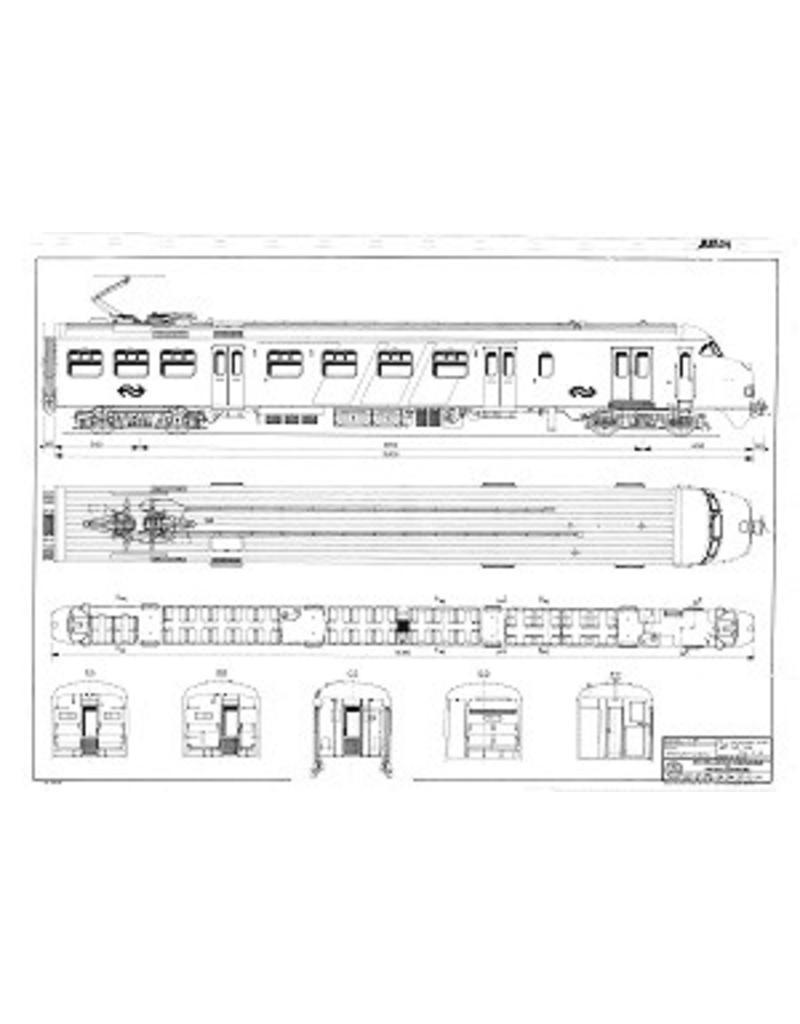 NVM 20.03.011 electrisch 2-wagenstellen NS 401-438 - Plan V1 t/m V3 voor spoor I